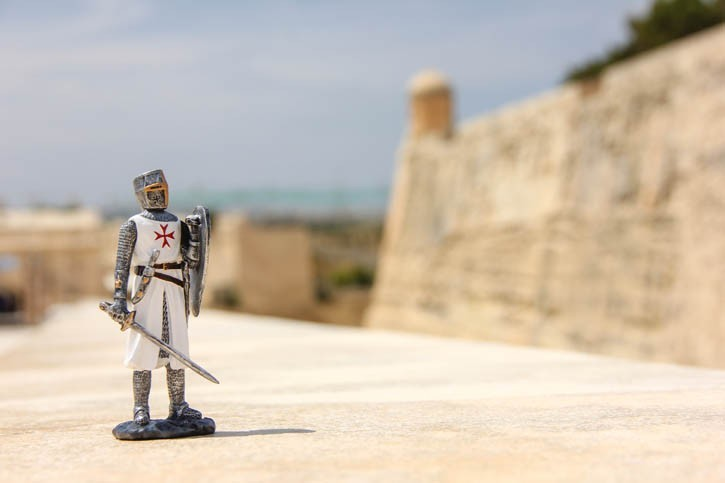Figurine de Chevalier Maltais