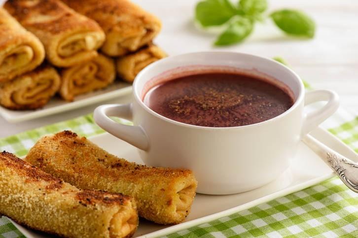 Croquettes polonaises au boeuf et soupe de betterave