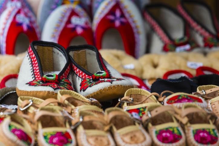 Chaussons en cuir traditionnel Polonais