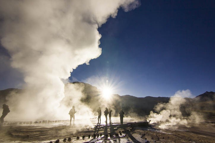 Geysers du Tatio Salar d'Atacama