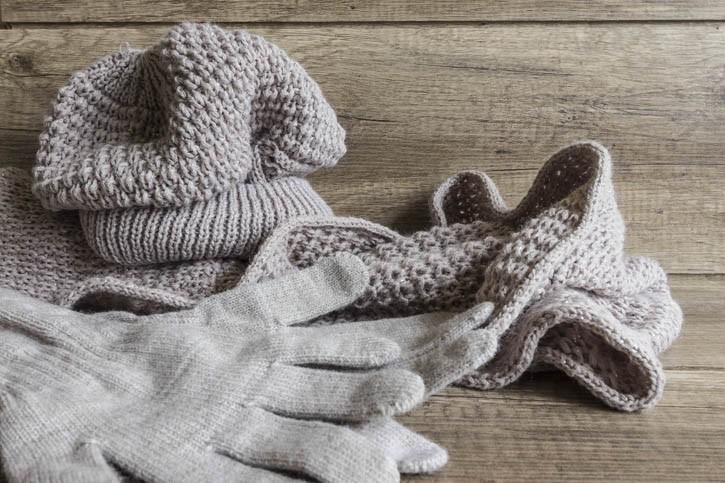 Bonnet, gants, écharpe