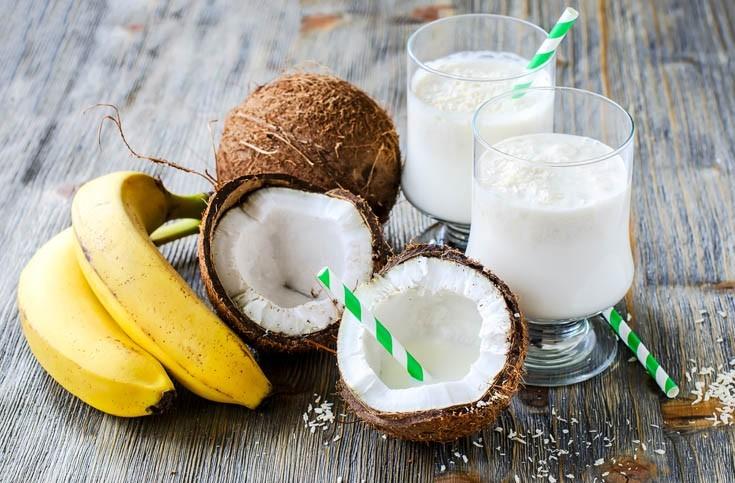 Jus de fruits et lait de coco
