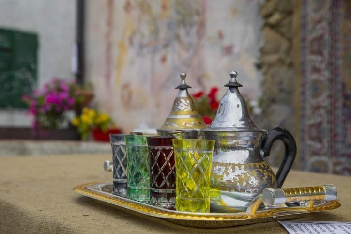Service pour le thé à la menthe