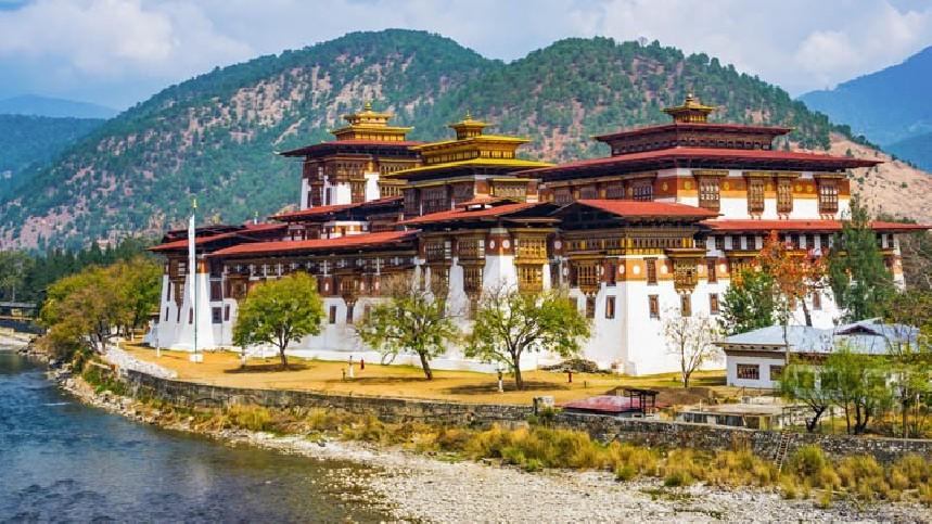 Visite du Dzong de Punakha