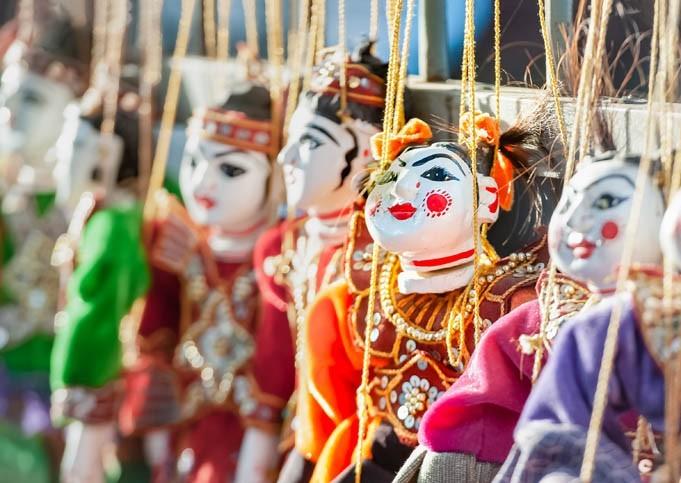 Marionnettes Birmanes Traditionnelles