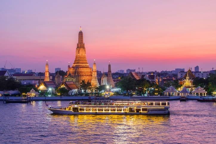 Balade en bateau sur la rivière Chao Phraya